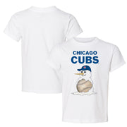 Chicago Cubs Baseball Snowman Tee Shirt