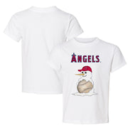 Los Angeles Angels Baseball Snowman Tee Shirt