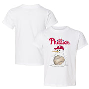 Philadelphia Phillies Baseball Snowman Tee Shirt