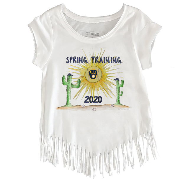 Milwaukee Brewers Toddler 2020 Spring Training Fringe Tee