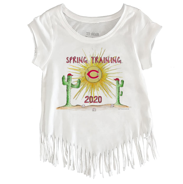 Cincinnati Reds Toddler 2020 Spring Training Fringe Tee