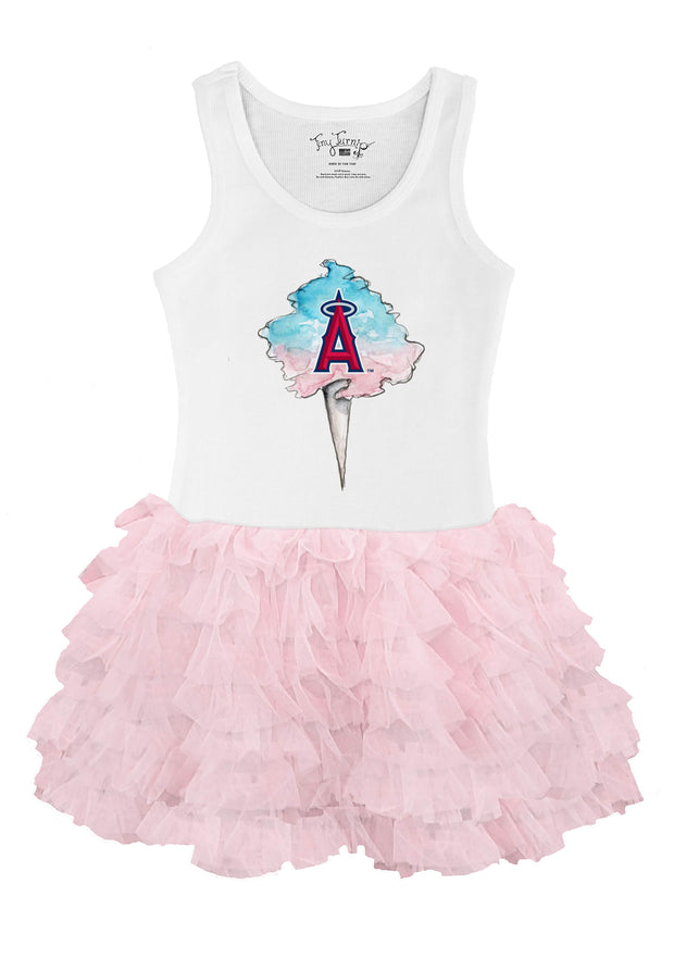 Los Angeles Angels Youth Cotton Candy Pink Ruffle Dress