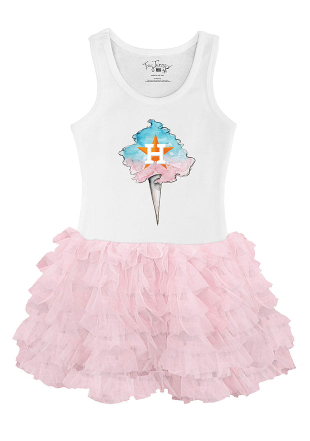 Houston Astros Toddler Cotton Candy Pink Ruffle Dress