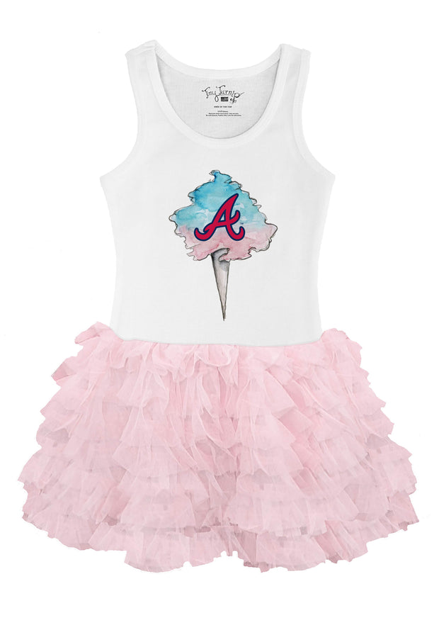 Atlanta Braves Youth Cotton Candy Pink Ruffle Dress
