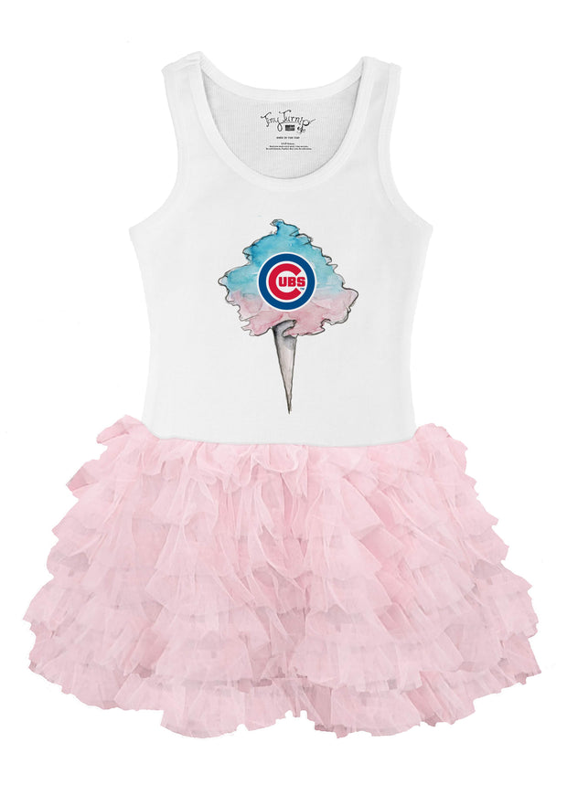 Chicago Cubs Toddler Cotton Candy Pink Ruffle Dress