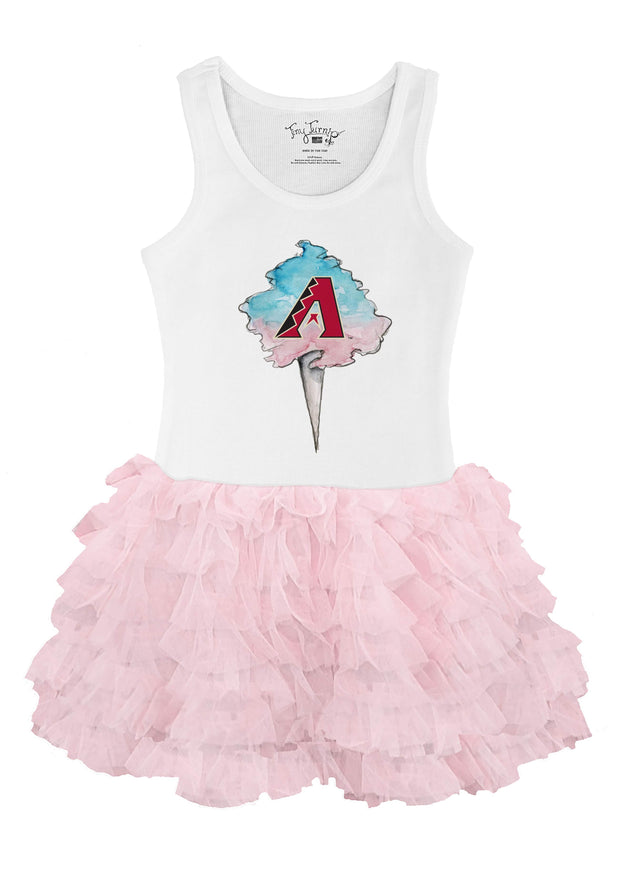 Arizona Diamondbacks Youth Cotton Candy Pink Ruffle Dress