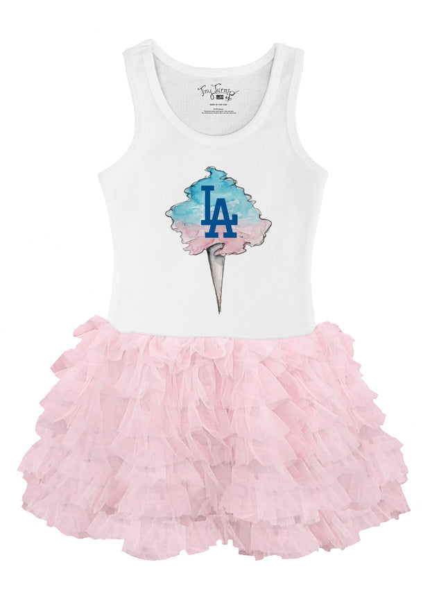 Los Angeles Dodgers Youth Cotton Candy Pink Ruffle Dress