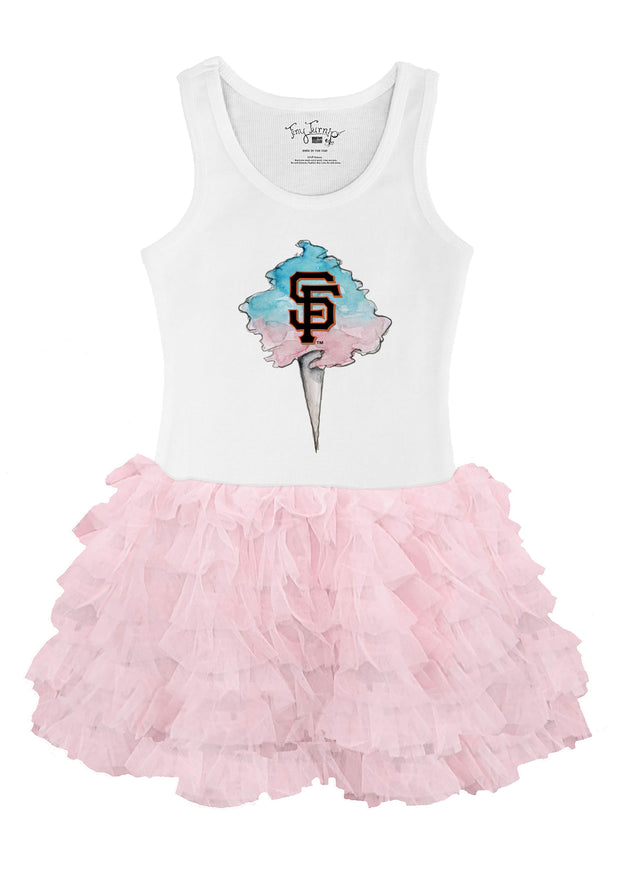San Francisco Giants Infant Cotton Candy Pink Ruffle Dress