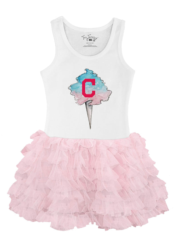 Cleveland Indians Youth Cotton Candy Pink Ruffle Dress