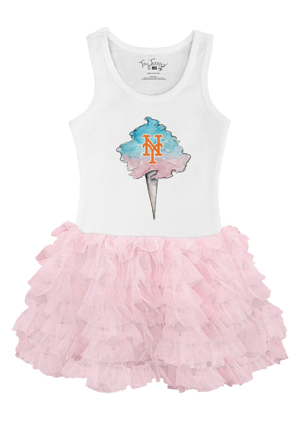 New York Mets Toddler Cotton Candy Pink Ruffle Dress