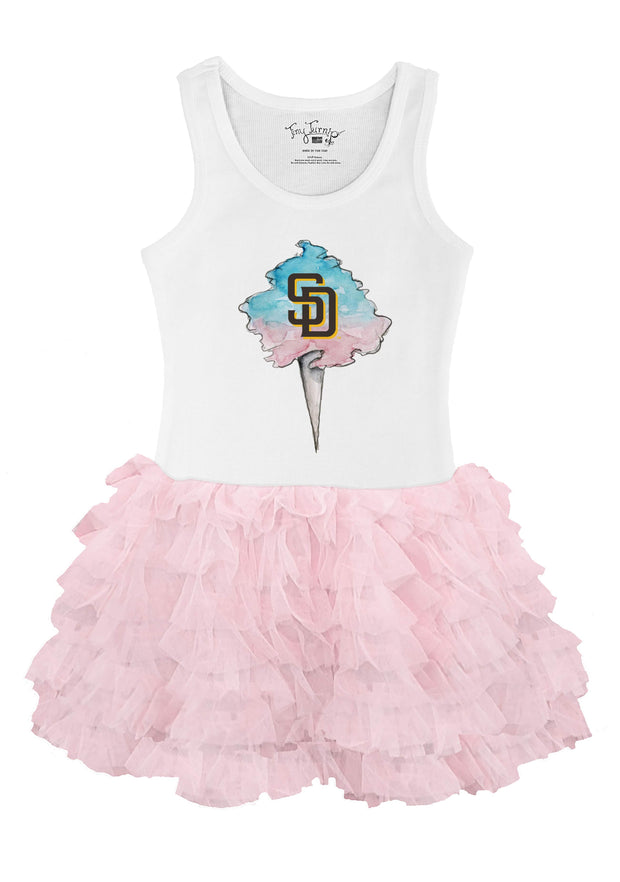 San Diego Padres Youth Cotton Candy Pink Ruffle Dress