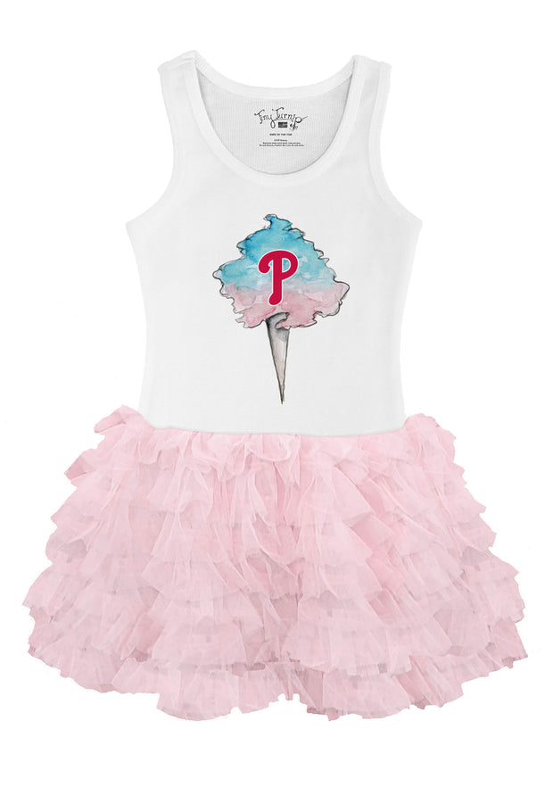 Philadelphia Phillies Toddler Cotton Candy Pink Ruffle Dress