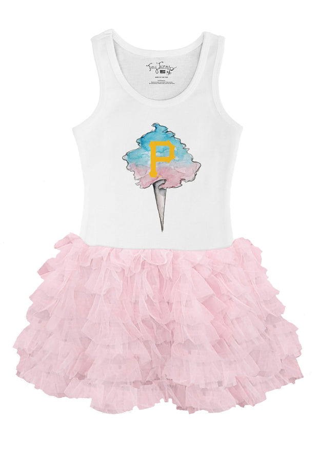 Pittsburgh Pirates Toddler Cotton Candy Pink Ruffle Dress