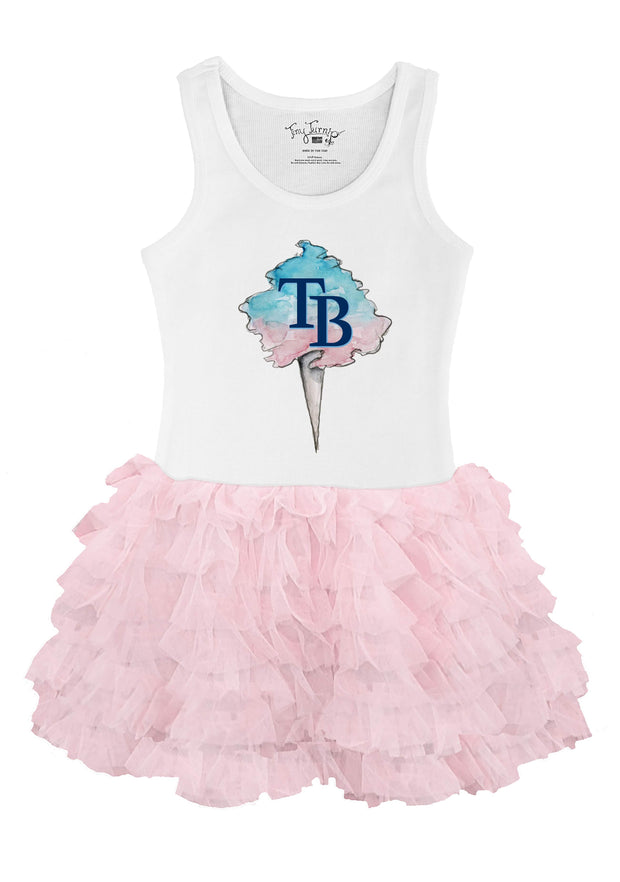 Tampa Bay Rays Toddler Cotton Candy Pink Ruffle Dress