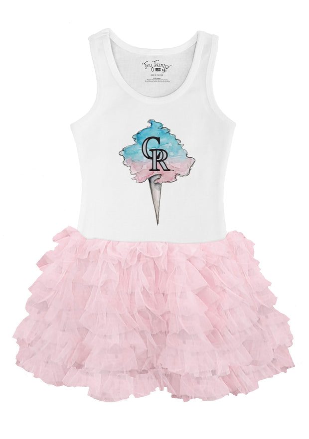 Colorado Rockies Youth Cotton Candy Pink Ruffle Dress
