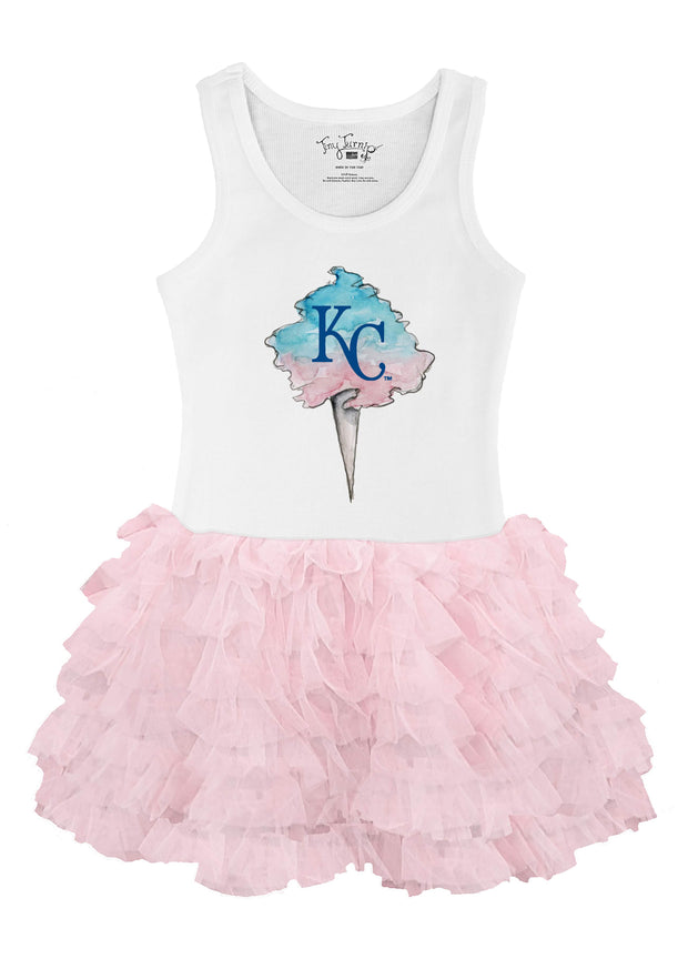 Kansas City Royals Youth Cotton Candy Pink Ruffle Dress