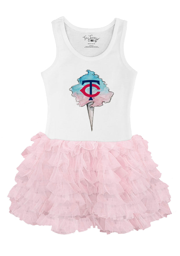 Minnesota Twins Toddler Cotton Candy Pink Ruffle Dress