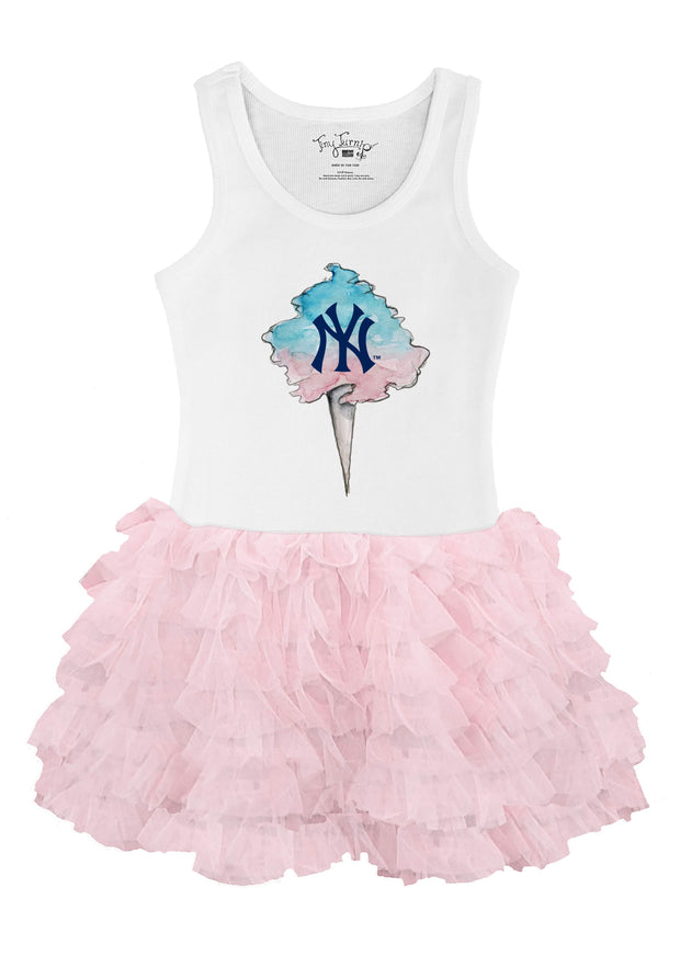 New York Yankees Toddler Cotton Candy Pink Ruffle Dress
