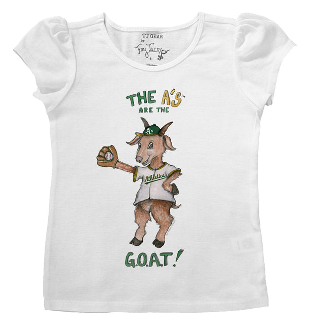 Oakland Athletics Infant G.O.A.T! Puff Sleeve Tee