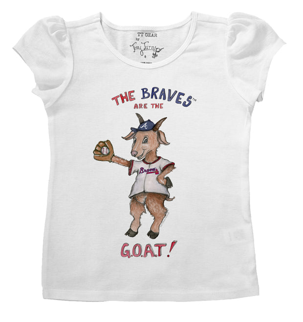 Atlanta Braves Infant G.O.A.T! Puff Sleeve Tee