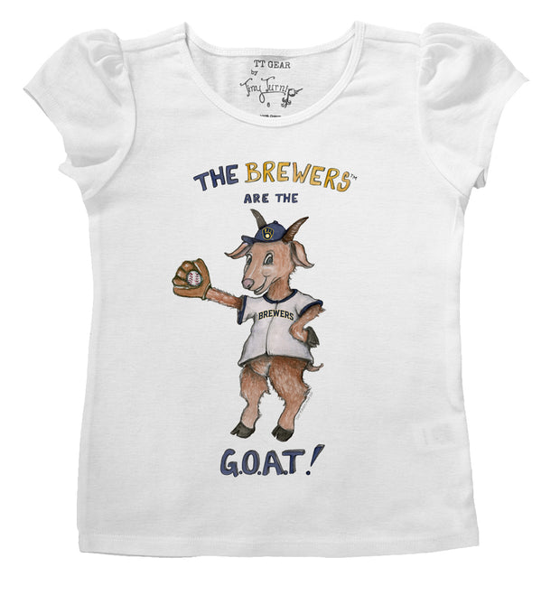 Milwaukee Brewers Infant G.O.A.T! Puff Sleeve Tee