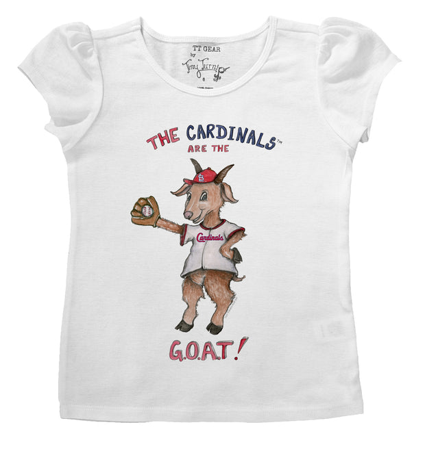 St. Louis Cardinals Infant G.O.A.T! Puff Sleeve Tee