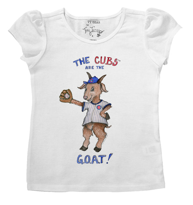 Chicago Cubs Infant G.O.A.T! Puff Sleeve Tee