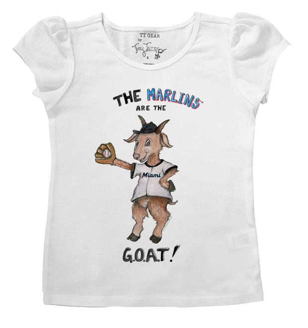 Miami Marlins Infant G.O.A.T! Puff Sleeve Tee