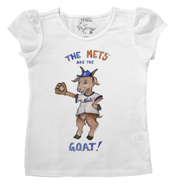 New York Mets Infant G.O.A.T! Puff Sleeve Tee