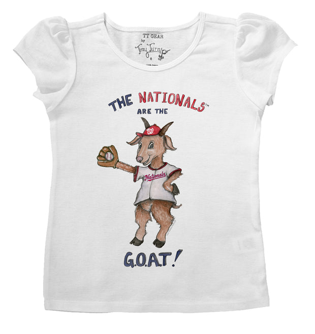 Washington Nationals Infant G.O.A.T! Puff Sleeve Tee