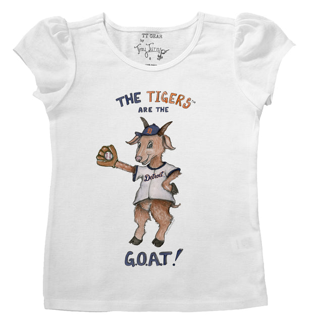 Detroit Tigers Infant G.O.A.T! Puff Sleeve Tee