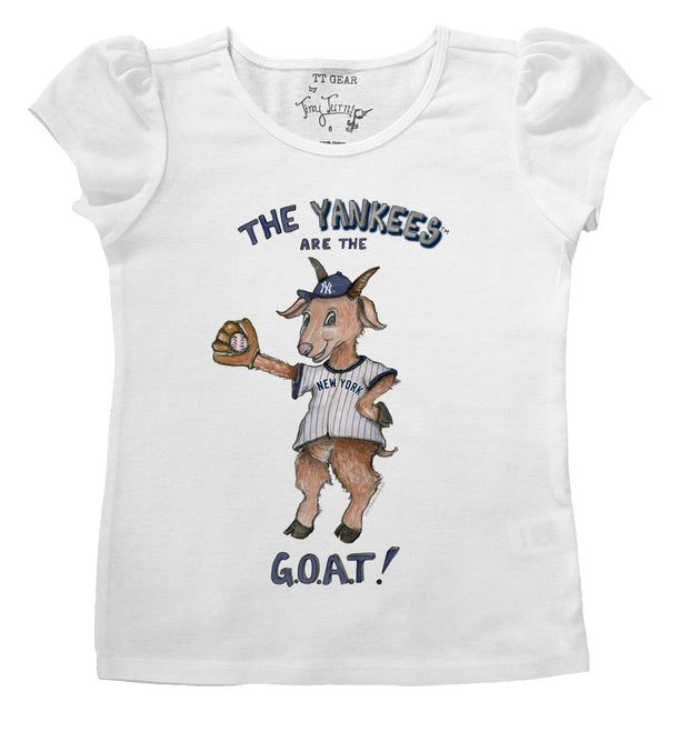 New York Yankees Infant G.O.A.T! Puff Sleeve Tee