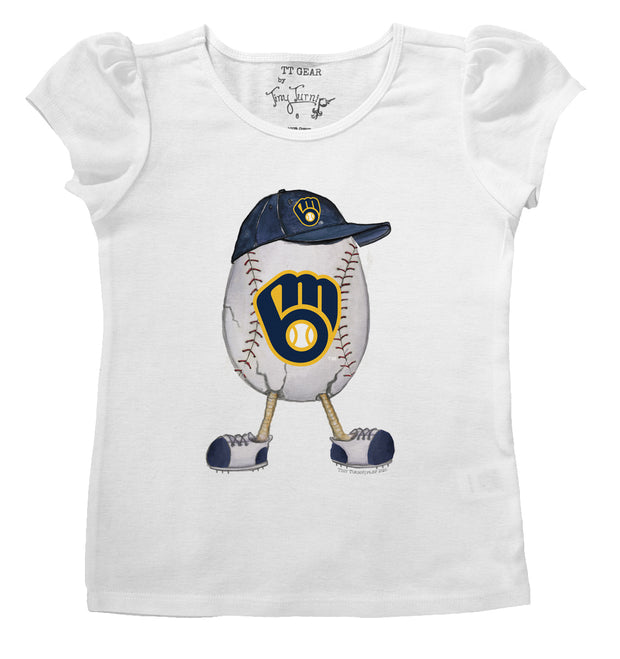 Milwaukee Brewers Infant The Egg Puff Sleeve Tee