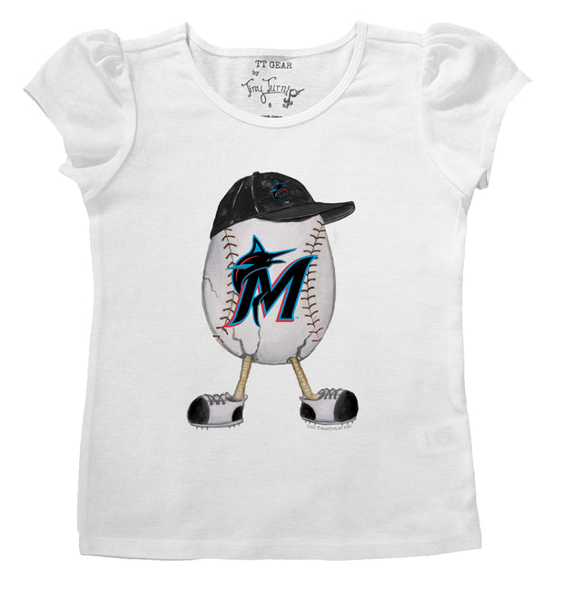 Miami Marlins Infant The Egg Puff Sleeve Tee