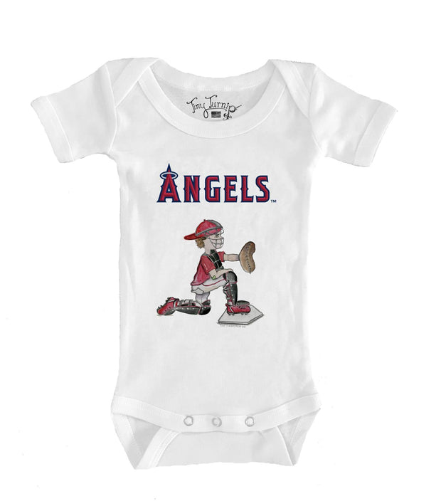 Los Angeles Angels Infant Caleb the Catcher Short Sleeve Snapper