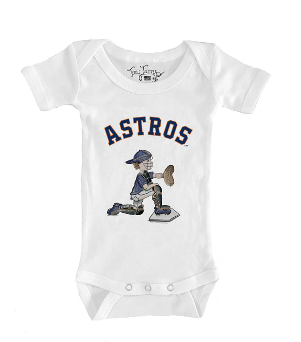 Houston Astros Infant Caleb the Catcher Short Sleeve Snapper