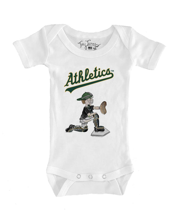 Oakland Athletics Infant Caleb the Catcher Short Sleeve Snapper