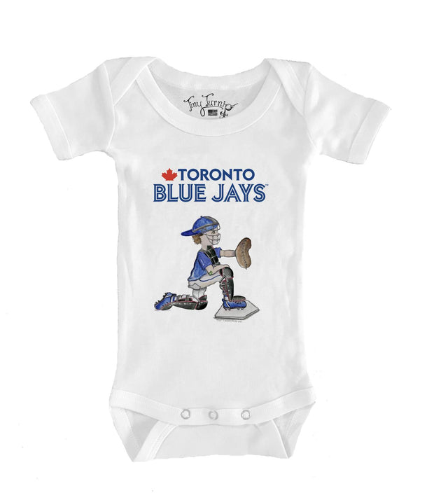 Toronto Blue Jays Infant Caleb the Catcher Short Sleeve Snapper