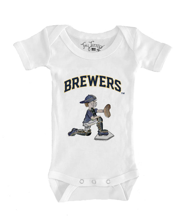 Milwaukee Brewers Infant Caleb the Catcher Short Sleeve Snapper