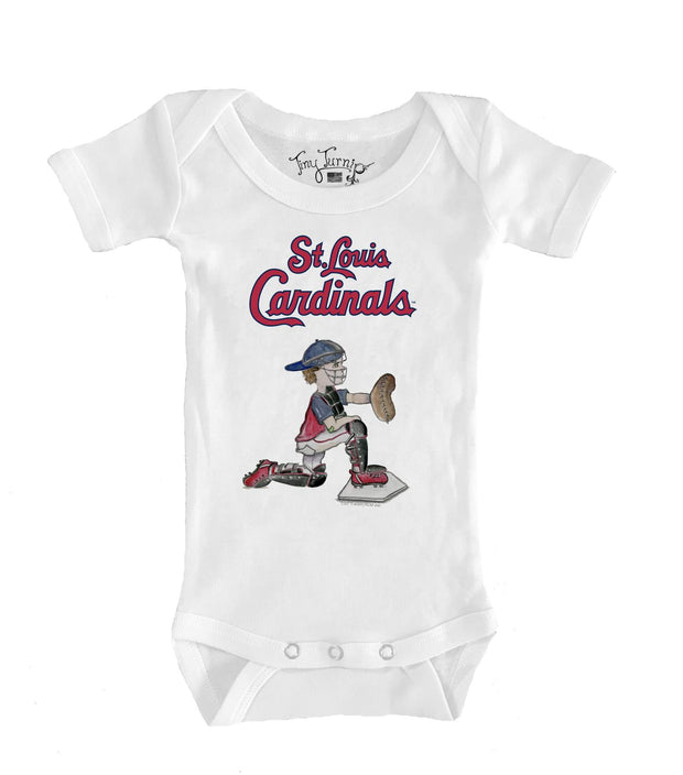 St. Louis Cardinals Infant Caleb the Catcher Short Sleeve Snapper