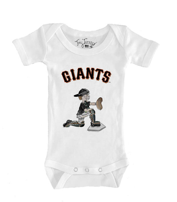 San Francisco Giants Infant Caleb the Catcher Short Sleeve Snapper