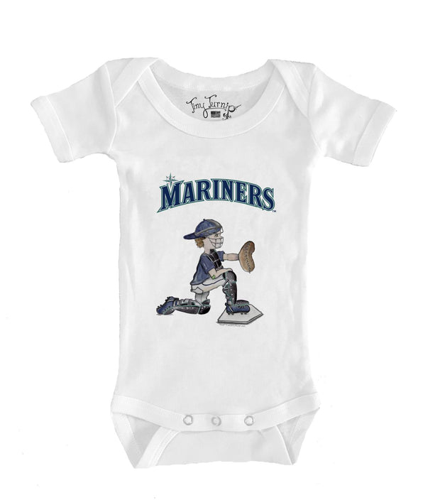 Seattle Mariners Infant Caleb the Catcher Short Sleeve Snapper