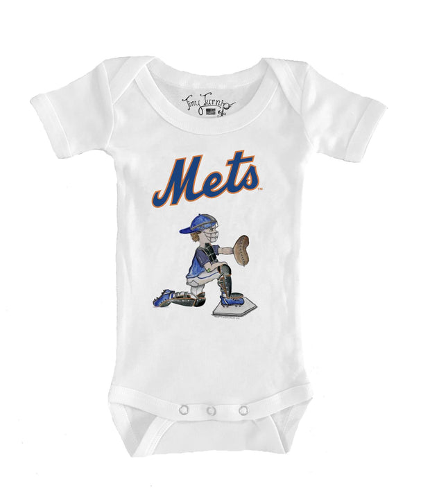 New York Mets Infant Caleb the Catcher Short Sleeve Snapper