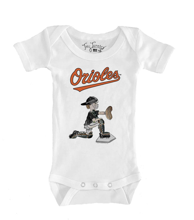 Baltimore Orioles Infant Caleb the Catcher Short Sleeve Snapper