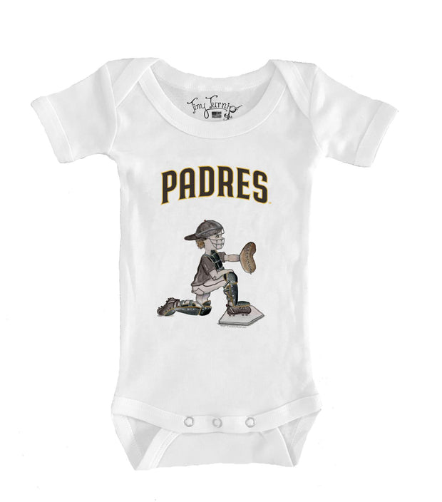 San Diego Padres Infant Caleb the Catcher Short Sleeve Snapper
