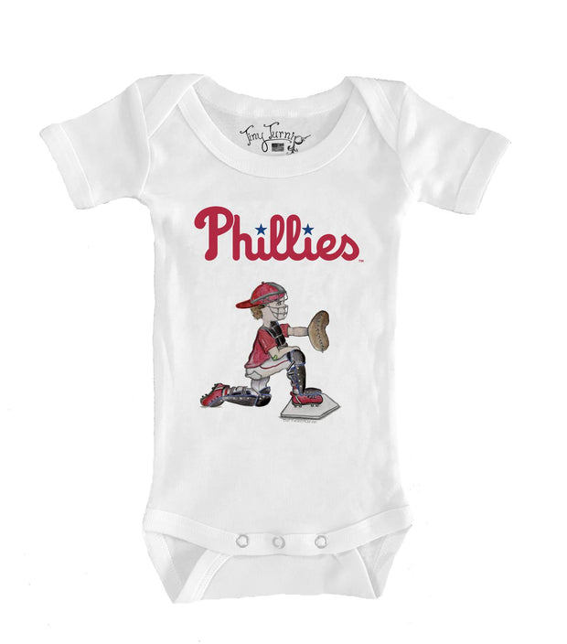Philadelphia Phillies Infant Caleb the Catcher Short Sleeve Snapper