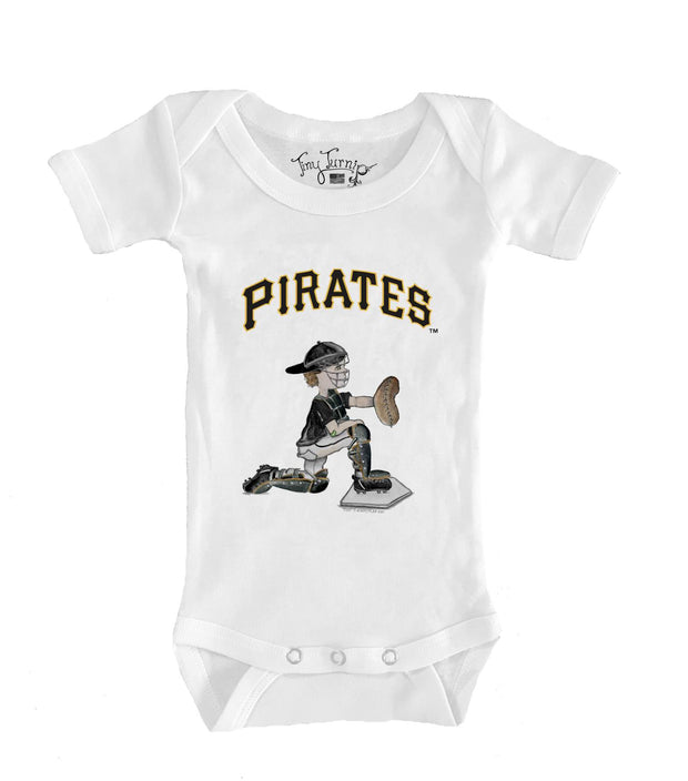 Pittsburgh Pirates Infant Caleb the Catcher Short Sleeve Snapper