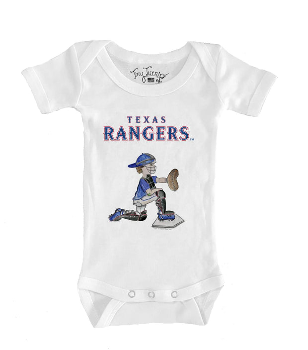 Texas Rangers Infant Caleb the Catcher Short Sleeve Snapper