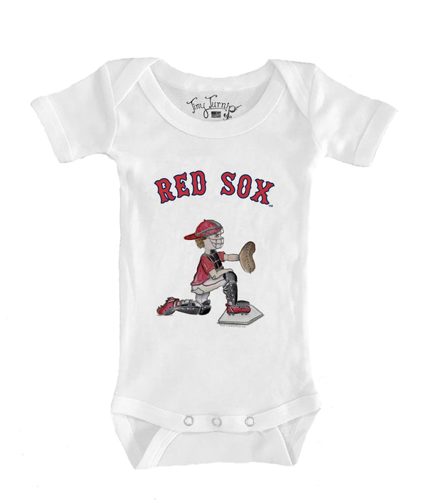 Boston Red Sox Infant Caleb the Catcher Short Sleeve Snapper