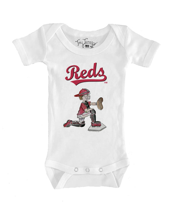 Cincinnati Reds Infant Caleb the Catcher Short Sleeve Snapper